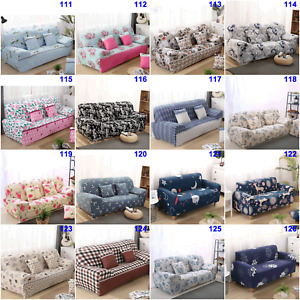 Floral Stretch Sofa Cover Slipcover Lounge Couches Protector 1/2/3/4 Seaters New