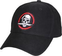Black Skull and Knife Adjustable Tactical Cap Ball Hat