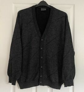 """Stunning Vintage Italian Wool Brend Mens Cardigan XL 50"""" Chest Perfect Condition"""