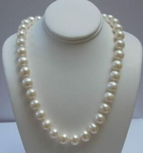 REAL PEARL AAA+ CULTURED 11-12MM WHITE AKOYA PEARL NECKLACE 18 inches
