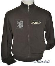 FELPA UOMO TAGLIE FORTI taglia 4XL maglia giacca calibrata over size MARRONE
