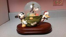 Disney Mickey Goofy Donald Duck Snowglobe Christmas Toy Sack Musical Animated