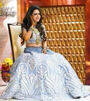 indian stylish Designer Formal Bridal Choli Chunri Wedding Lengha Ghagra Lehenga