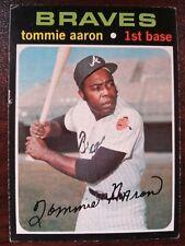1971 TOPPS SET BREAK High # 717 TOMMIE AARON Atlanta Braves FREE SHIPPING