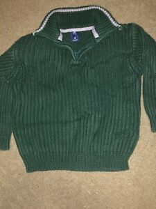 Authentic GAP Kids Boy's Green 1/2 Zip Sweater Top Size XS 4