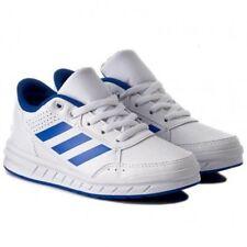 NEW ADIDAS AltaSport K Boys Shoes White/Blue Stripes BA9544 SELECT SIZE