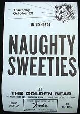 NAUGHTY SWEETIES Live USA Concert Poster Mint- 1981 Golden Bear ORIGINAL!!!