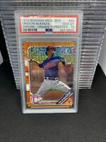 2019 Bowman Mega Box Triston McKenzie Chrome- Orange Refractor /25 PSA 10 1 POP