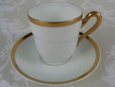 Paul Muller Turin Bavaria The Baronial Flat Demitasse Cup And Saucer Set
