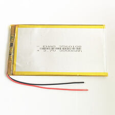 "Rechargeable 3.7V 3000mAh Lipo Battery for 7~10"" Tablet PC Laptop 3.5*60*108mm"