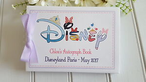 "PERSONALISED ""DISNEY"" AUTOGRAPH BOOK * SCRAPBOOK ALBUM - BOY & GIRL DESIGN"