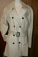 NEWPORT NEWS LEATHER TRENCH STYLE JACKET SIZE 10