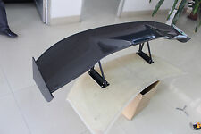 59'' Universal 3D Glossy Carbon Fiber Rear Trunk GT Spoiler Wing Adjustable