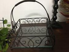 Southern Living at HOME Jamestown Estate Iron  Basket Glass Bottom
