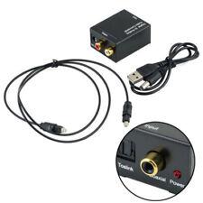 Óptico Digital Coaxial Toslink a Analógico Audio Rca L/R Adaptador &cable