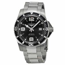 Longines L36424566 Men's Automatic Black Dial Steel Dive Watch