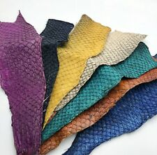 More details for 1x natural colour dyed handmade liza ramada peruvian coast genuine fish leather