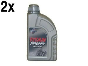Set of (2) BMW 1967+ Differential Oil Synthetic Liters SAE 75w 90 - Fuchs Titan
