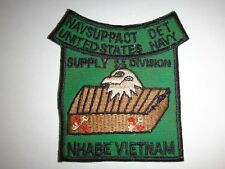 Vietnam War Patch US Navy NAVAL SUPPORT ACTIVITY DET. SUPPLY Division At NHA BE