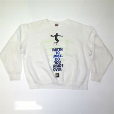 VINTAGE ORIGINAL NIKE AIR JORDAN JUMPMAN SWEATSHIRT LARGE WHITE 1990s USA