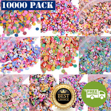 3D Polymer Fimo Slices DIY Nail Art Slime Supplies Charms Making Arts Crafts Kit