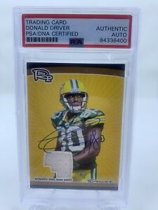Donald Driver Signed 2008 Topps Rookie ProgressIon Relic Auto PSA/DNA Packers