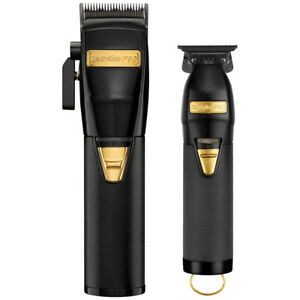 Babyliss Pro BLACK AND GOLD FX870BN Cordless Clipper w/Outlining Trimmer FX787BN