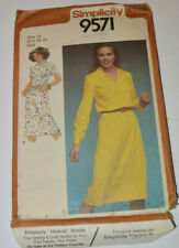 sewing pattern dress pullover style  size 14