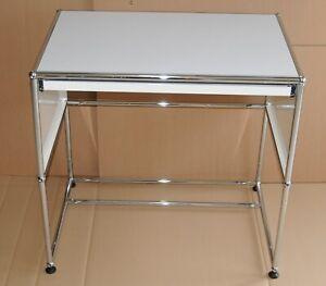 USM Haller Beistelltisch Tisch  RAL 9010 weiß Top Zustand