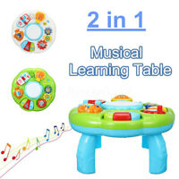 Educational Piano Pat Drum Musical Light Up Baby Learning Table Game Playing Toy