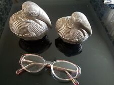 A Large Pair of Cambodia Khmers Silver PELICAN bétel Boxes (Very high quality)...
