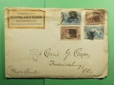 DR WHO 1890S TARENTUM PA FANCY CANCEL TO FREDERICKSBURG OH  f53852
