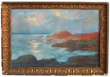 Bord de mer dessin au pastel d'Arsene Chabanian (1864-1949)