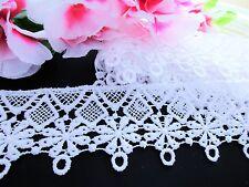 Flor Delicada Venise bordado encaje de corte = venta por la yarda