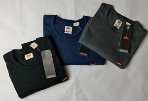 Men Levis Strauss Crew V Neck Basic Plain Soft Blue Grey Black T-shirt Top Tee