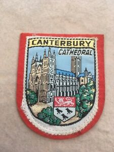 SAMPSON'S SOUVENIR CLOTH PATCH, BADGE of CANTERBURY CATHEDRAL