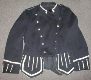 Black Scottish Piper's Tunic with silver trim
