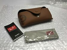 Brown Case Ray Ban Sunglasses Eyeglasses Glasses Leather Cloth Cleaning Original