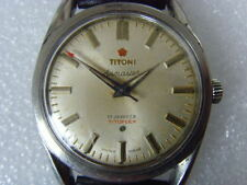 Vintage Swiss Titoni 17J Mechanical Manual Watch
