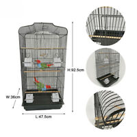 Bird Cage for Budgie Parakeet Canary Cockatiel Finch Lovebird Large Metal House