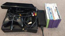 Microsoft Xbox 360 S Slim 4GB Black Console Kinect Bundle