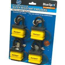 4 Padlocks Same Key. water resistant Padlocks Keyed Alike. Shed Gate Garage Lock
