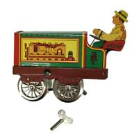 Collectible Gift Retro Tin Toy Clockwork Mechanical Wind Up Tractor Driver