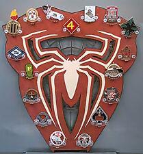 * Custom * Spiderman 17-Challenge Coin display / holder - wall mount