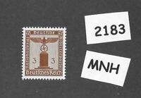 #2183    MNH WWII Germany postage stamp / 1942 PF03 issue / Official Third Reich