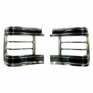 New Goodmark Set Of 2 LH & RH Side Tail Lamp Bezels Fits Chevelle GMK4031840672P