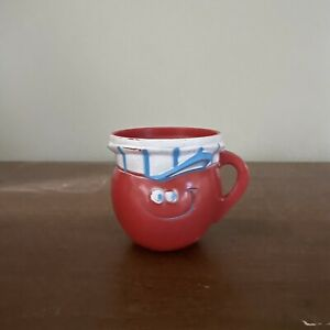 Choo Choo Cherry Pillsbury Funny Face Plastic Drink Mix Cup 1969 Kool Aid