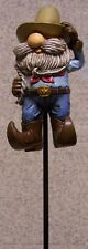 Garden Accent Gnome on the Range NEW Freestanding or mount on a variable stake