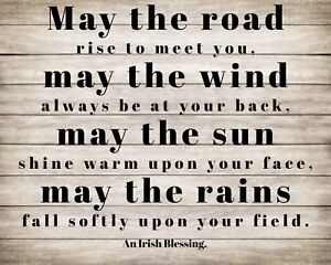 MAY THE ROAD RISE UP TO MEET YOU IRISH BLESSING IRELAND METAL SIGN PLAQUE R103