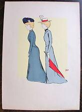 SEM, LITHOGRAPHIE ORIGINALE,Emilienne d'Alencon...(Album  Paris Trouville, 1900)